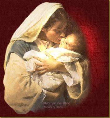 MARÍA BESA A BEBE JESUS