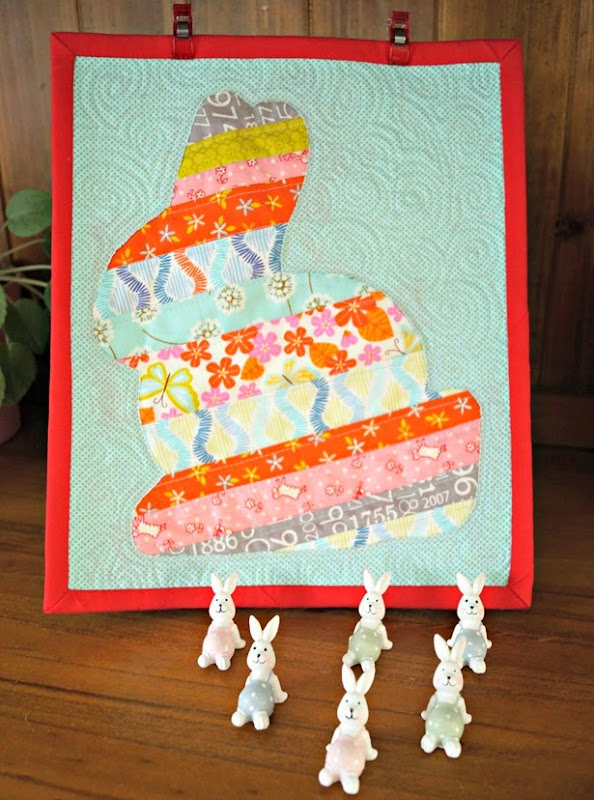 Scrappy Easter Bunny Mini Quilt