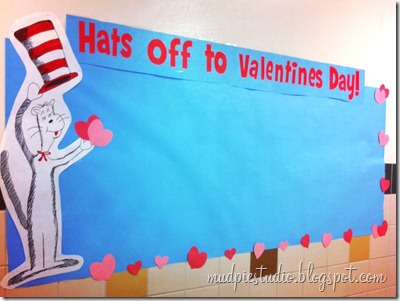 Dr. Seuss Valentine Bulletin Board #school #class #valentines #reading