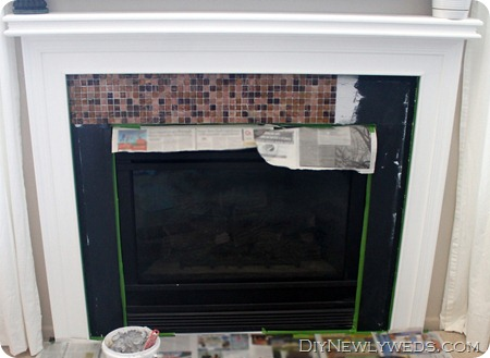 How To Tile a Fireplace Mantle