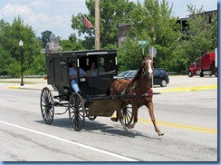 4169 Indiana - Ligonier, IN - Amish buggy on Cavin St
