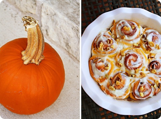 ... of Cooking » Pumpkin Cinnamon Rolls with Maple Cream Cheese Glaze