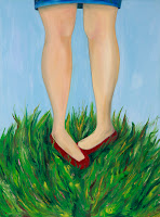 Wore Her Best Shoes and the Party's in the Woods, oil on canvas, 30x40