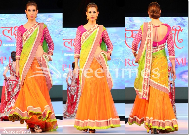 Orange_Green_Half_Saree