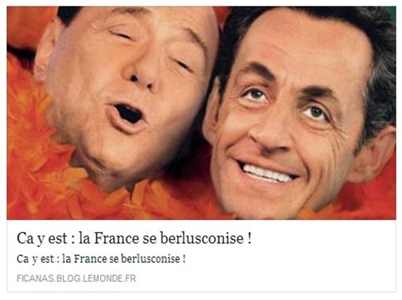 Sarkozy e berlusconizacion