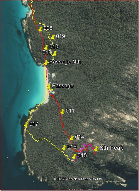 Freycinet South Peak Route