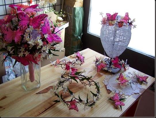 Corona Vintage años 20 en de Flores y  Mariposas para Boda 0045