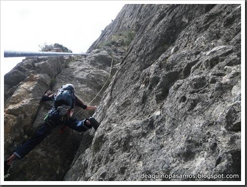 Via Gali-Molero 500m 6b  Ae (V  A1 Oblig) (Roca Regina, Terradets) (Isra) 9862