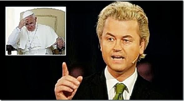 Pope Francis - corner, Geert Wilders