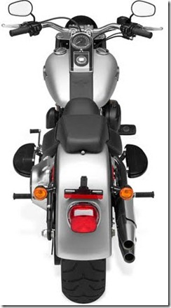 Harley-Davidson FLSTF Fat Boy top view