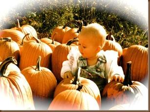 Juliana in pumpkin patch