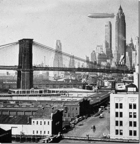 Hindenburg over NYC