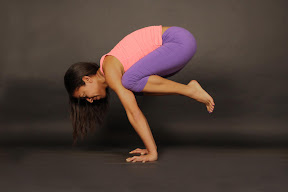 Bakasana: Crane. A bird wading in water.
