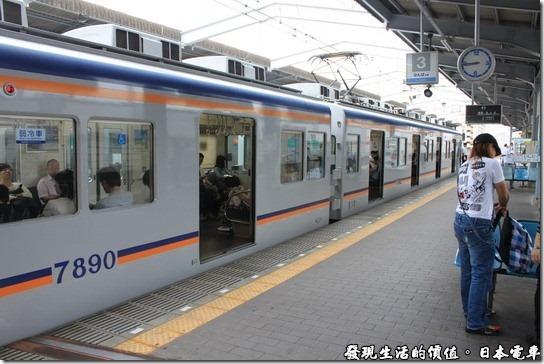 日本電車,這就是我們這次要搭乘的南海電鐵電車。