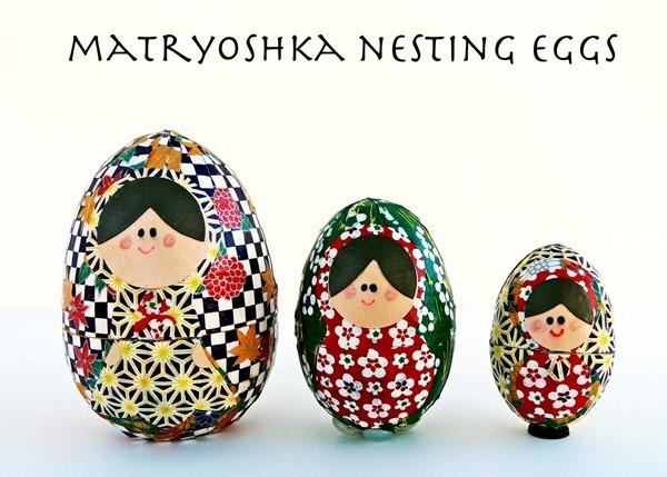 matryoshka nesting eggs