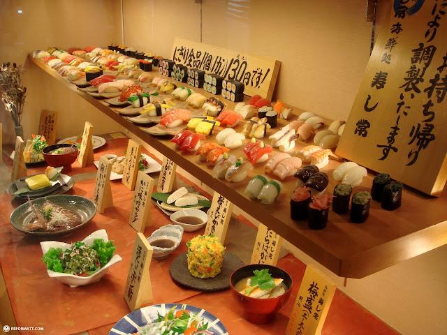 sushi at shibuya 109 in Shibuya, Tokyo, Japan
