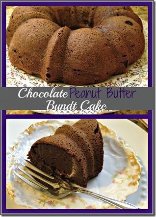 choc pb bundt cake