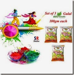 Buy Cock Murga Brand Herbal Gulal 100g Pack Of 3 Rs.109