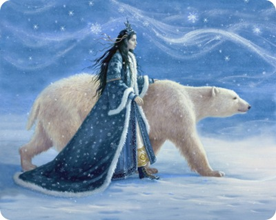 "Snow Princess and Polar Bear"" by Ruth Sanderson"