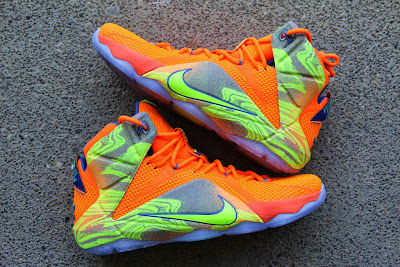 nike lebron 12 gr orange silver yellow 2 03 A Detailed Look at the Orange / Volt Nike LeBron 12 Nerf