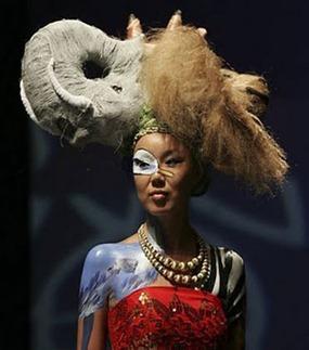 rambut fesyen gajah