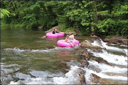 river tubing at Helen, GA