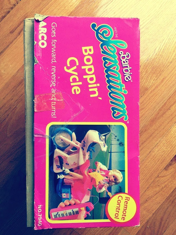 Barbie Boppin Cycle Box Side