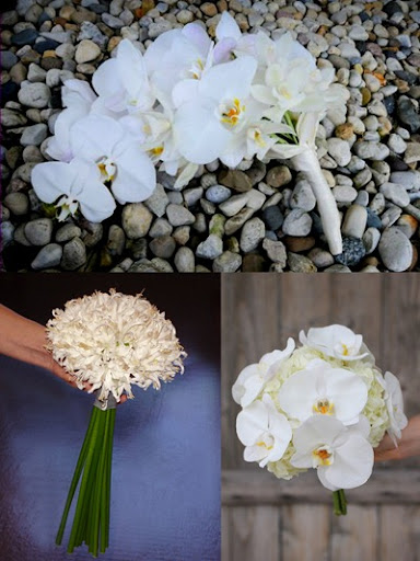 white bridal bouquets 1 The above left image shows a statement bouquet of