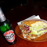 best Doner Kebab EVER! and a Becks beer in Berlin, Berlin, Germany
