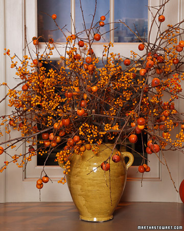 This Fall Branch Arrangement shows-off the popular bright autumn colors.