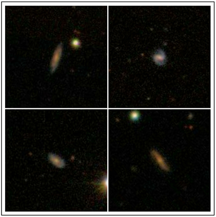 quatro galáxias distantes com reservatórios de gás de hidrogênio atômico