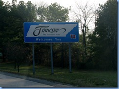 5737 Tennessee -  I-65 South - Tennessee Welcome sign