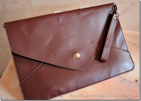 oasap envelope clutch coffee