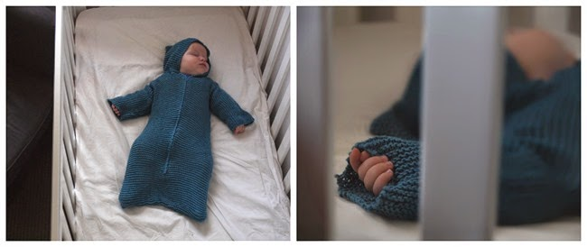virtù - teal hooded baby cozy