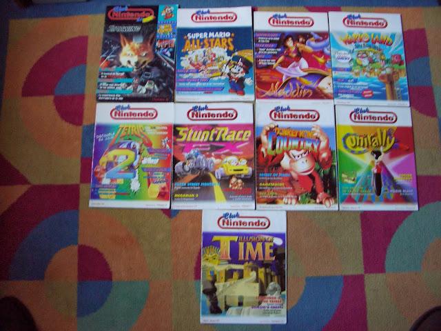 Algunas portadas de la revista del Club Nintendo