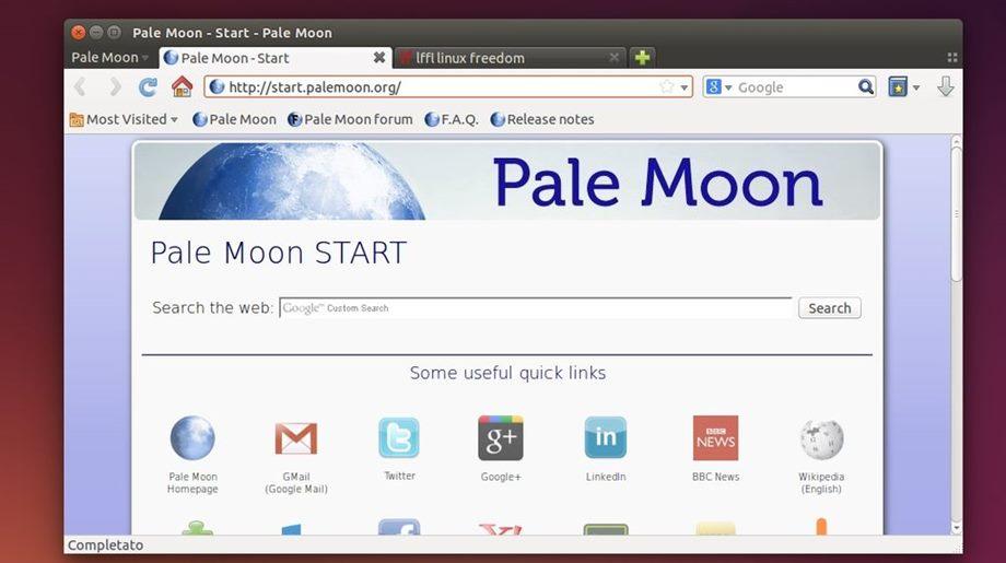 Pale Moon in Ubuntu