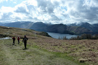Walking along Walla Crag