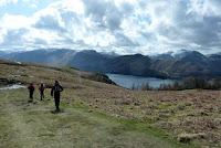 Walking along Walla Crag