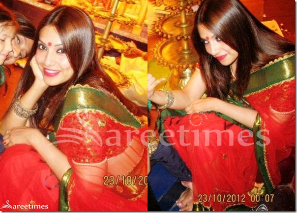 Bipasha_Basu_Red_Saree