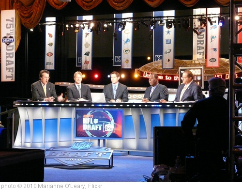 'NFL Draft 2010 ESPN Set' photo (c) 2010, Marianne O'Leary - license: http://creativecommons.org/licenses/by/2.0/