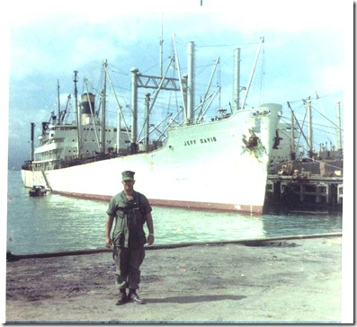 Russ Ford at Da Nang Harbor 1969