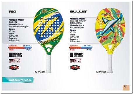 DS Beach Tennis / Tenis Playa 2015 / modelos rio y bullet