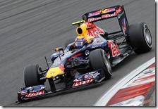 Webber nelle qualifiche del gran premio di Germania 2011