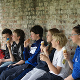 Enjoying icecreams while watching the action at the Sligo Tennis Club