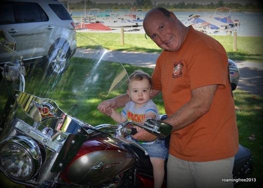 Tom had to show Jaxon his motorcycle