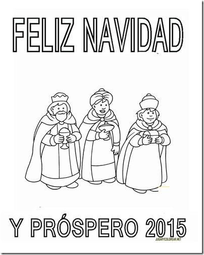 FELIZ NAVIDAD Y PROSPERO AÑO NUEVO 2015 5COLOREAR 1 2 2 2