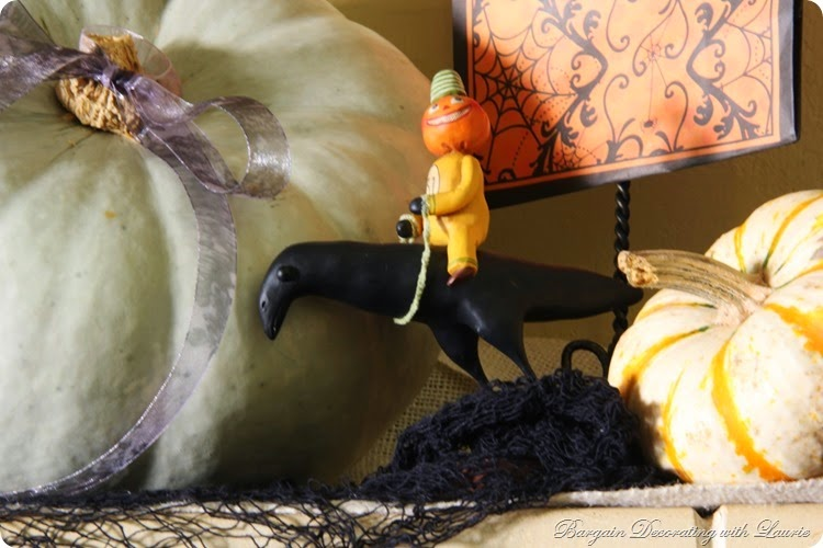 Halloween Mantel-Bargain Decorating with Laurie