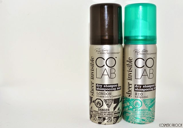 COLAB Sheer Invisible Dry Shampoo Rio Tropical London Classic Review