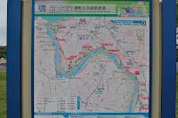 Map d'una part dels carrils bici al riu Partial map of the riverside paths
