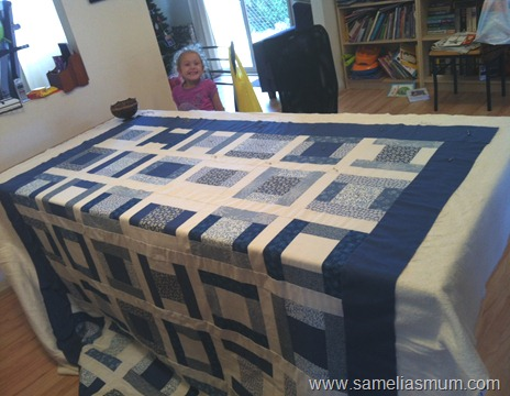 pin basting quilt 2